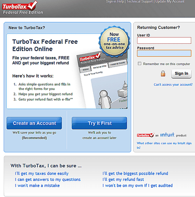turbotax 2012 software versions features and prices