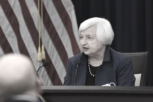 FOMC Chair Janet Yellen delivers the opening statement during the FOMC press conference, March 15, 2017. Image courtesy US Federal Reserve.