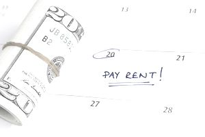 A rent payment reminder
