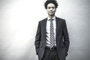 Young businessman wearing a suit