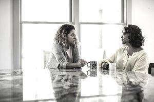 A daughter talks to her mother about estate planning.