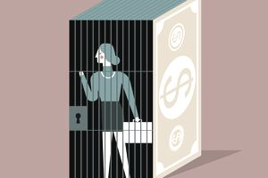 Woman trapped in financial prison