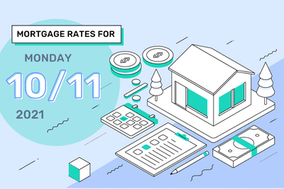 Daily Mortgage Rates for Monday, October 11, 2021