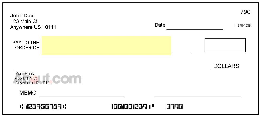 Parts Of A Check And Where To Find Information - Pay-to-the-order-of