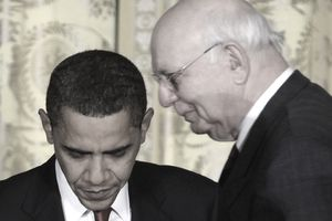 President Barack Obama and Paul Volcker
