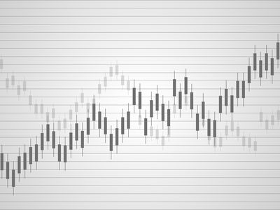 Business candle stick graph chart of stock market investment trading. Trend of graph. Vector illustration