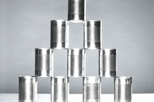 Tower of tin cans