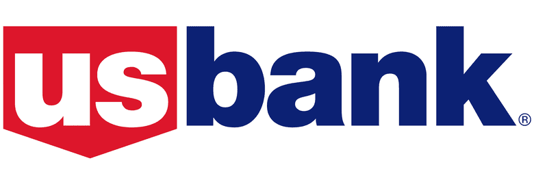 U.S. Bank red white and blue logo.