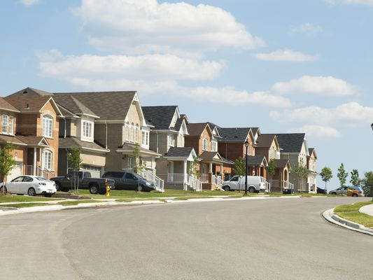 A row of houses in a subdivision where there is a Restrictive Covenants in a development