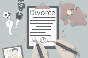 Buying a home when getting divorced a couple signing divorce papers solutioingenieria Image collections