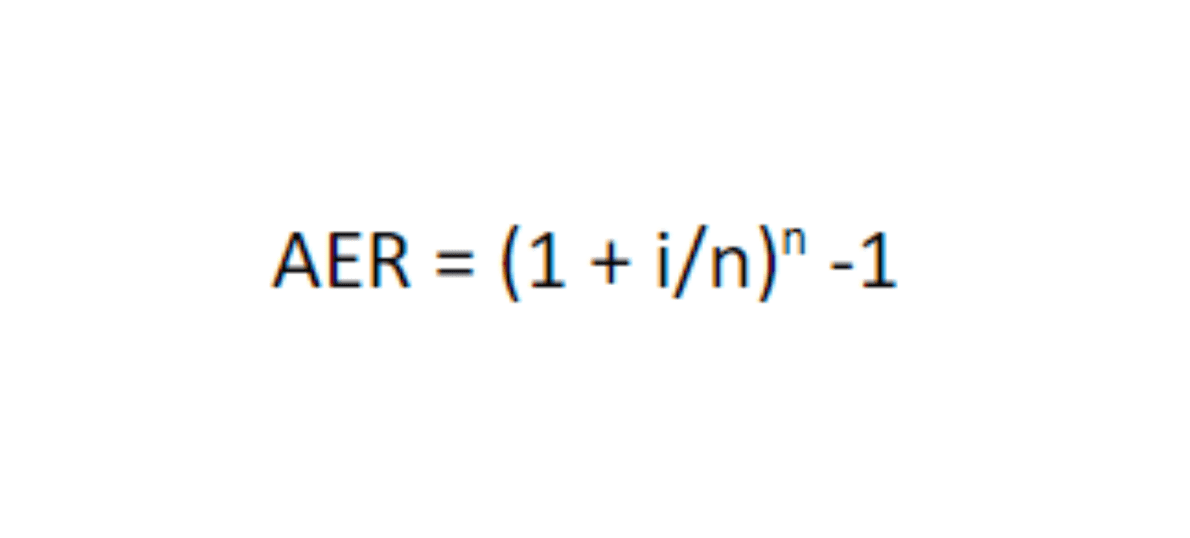 Annual Equivalent Rate (AER) calculation