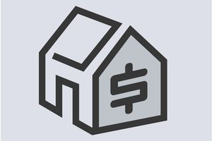 house graphic with money sign in it