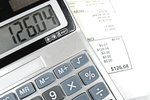 Calculator and energy bill