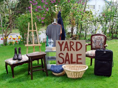 Yard Sale which is one way to make money when you need it