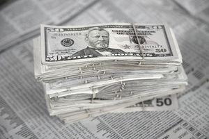 US dollars_investment section of newspaper