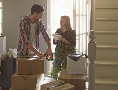 Couple Packing Up to Move