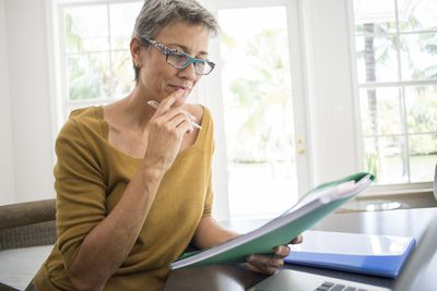 Woman reviewing her social security benefits