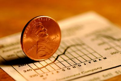 a penny on a stock chart
