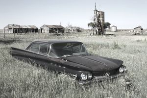 Abandoned Car on farm in Texas