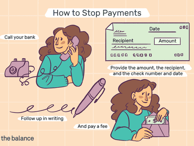 Custom illustration showing how to stop check payments with your bank