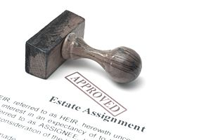 Stamp approving estate assignment