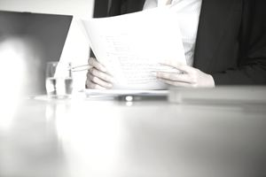 woman and paperwork