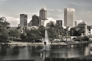 A view of the Indianapolis skyline