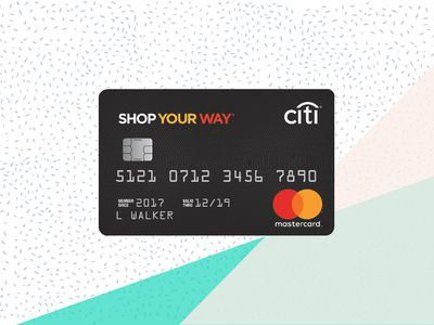 Shop Your Way Mastercard on background