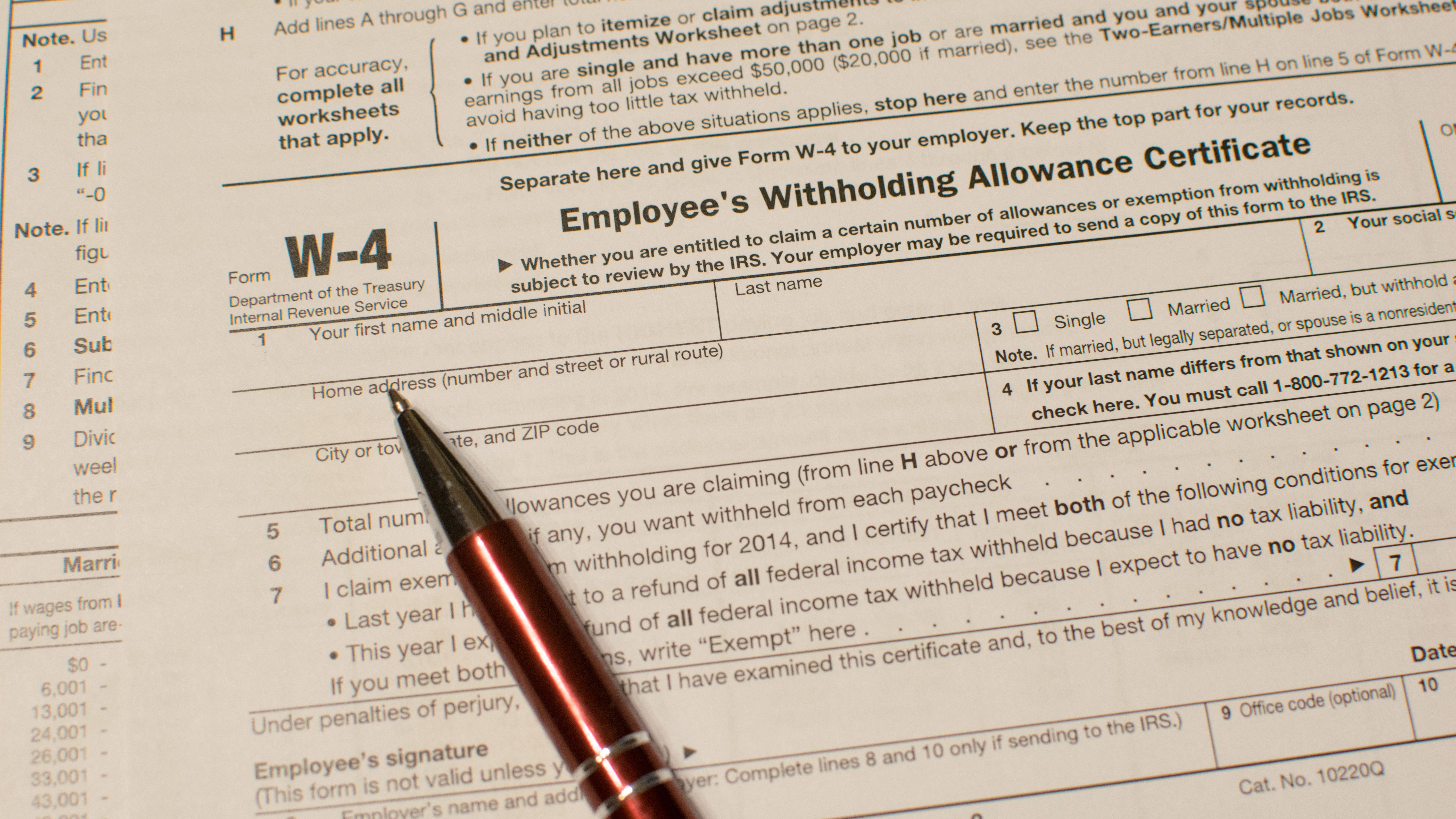 Tweak Your Income Tax Withholding