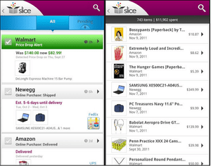 Slice mobile app helps you save money with product returns.