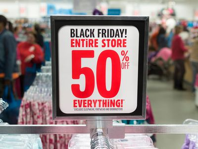 Black Friday 50% off everything sign