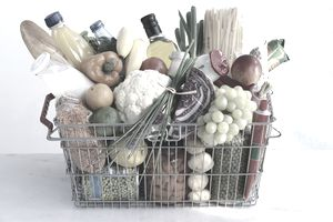 The CPI is like a shopping basket overfilled with fruit, vegetables, and grocery items