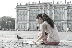 A college student using a 529 plan to study abroad