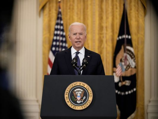 President Biden delivers remarks on the economy from the East Room of White House on May 10, 2021.