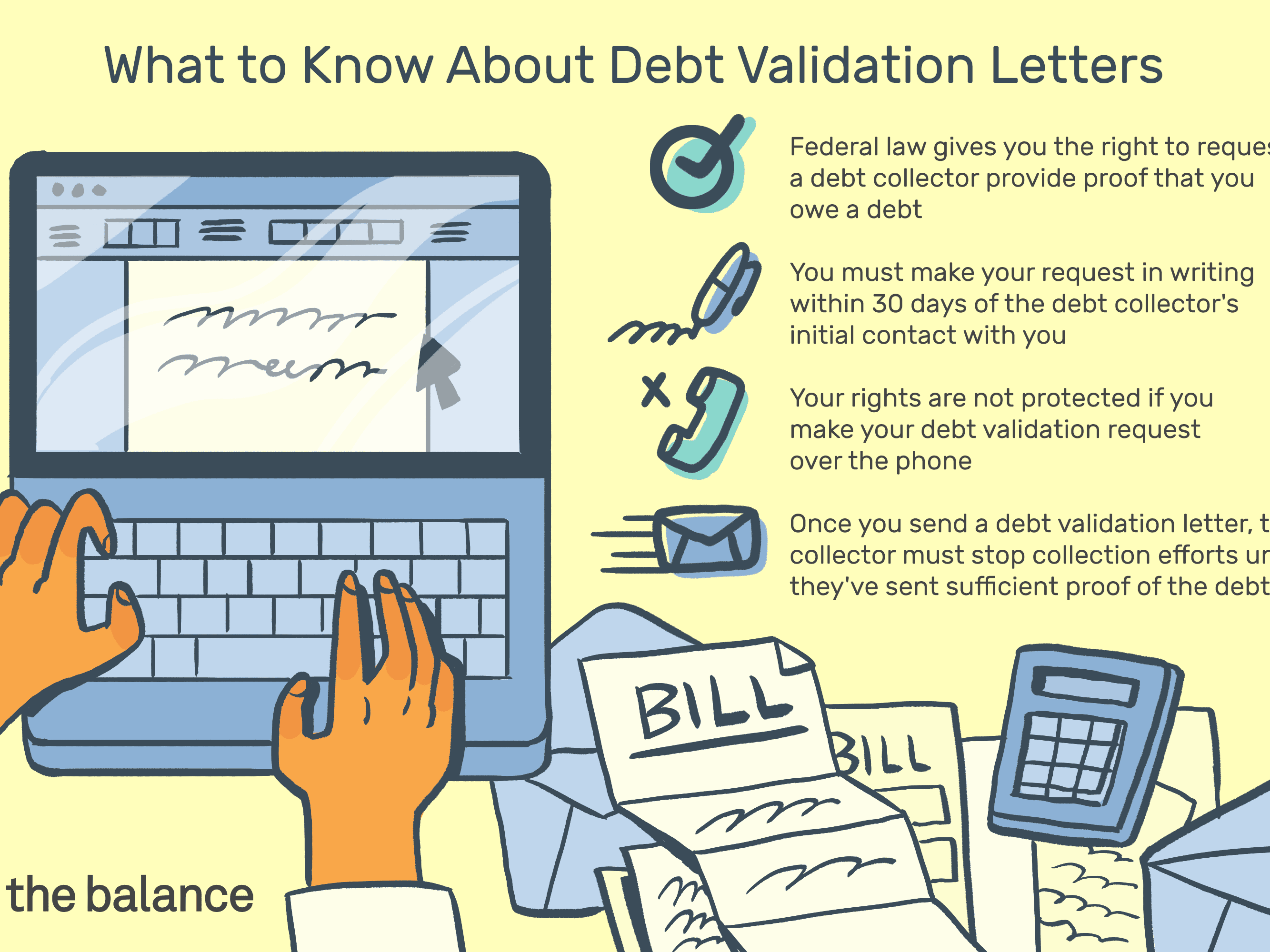 Debt Collection Dispute Letter Template from www.thebalance.com