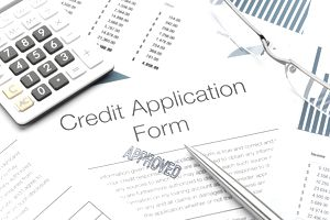 An approved credit card application