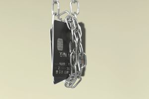 Credit Card in chains