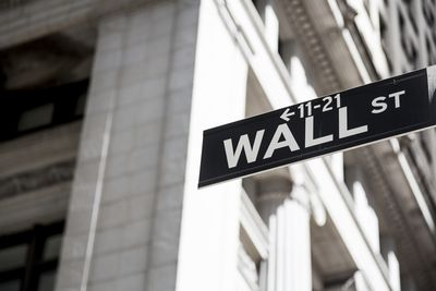 New York street sign for Wall Street
