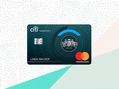 Citi Rewards+ card image with background