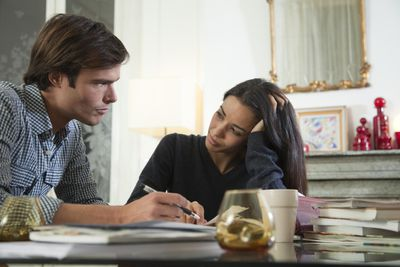 Couple determining how much mortgage they can afford
