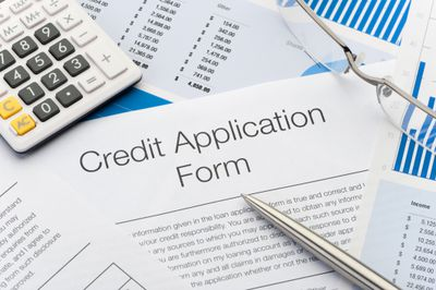 Close up of Credit Application Form