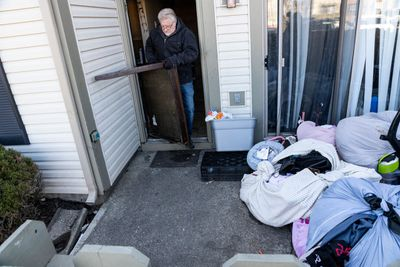 Bailiff Carries Out Eviction