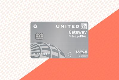 United Gateway credit card on a dotted background
