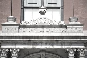Mercantile Exchange building facade, New York City
