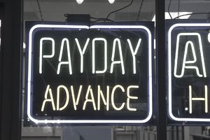 "Neon ""Payday Advance"" sign"