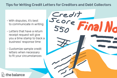 Sample Credit Letters for Creditors and Debt Collectors