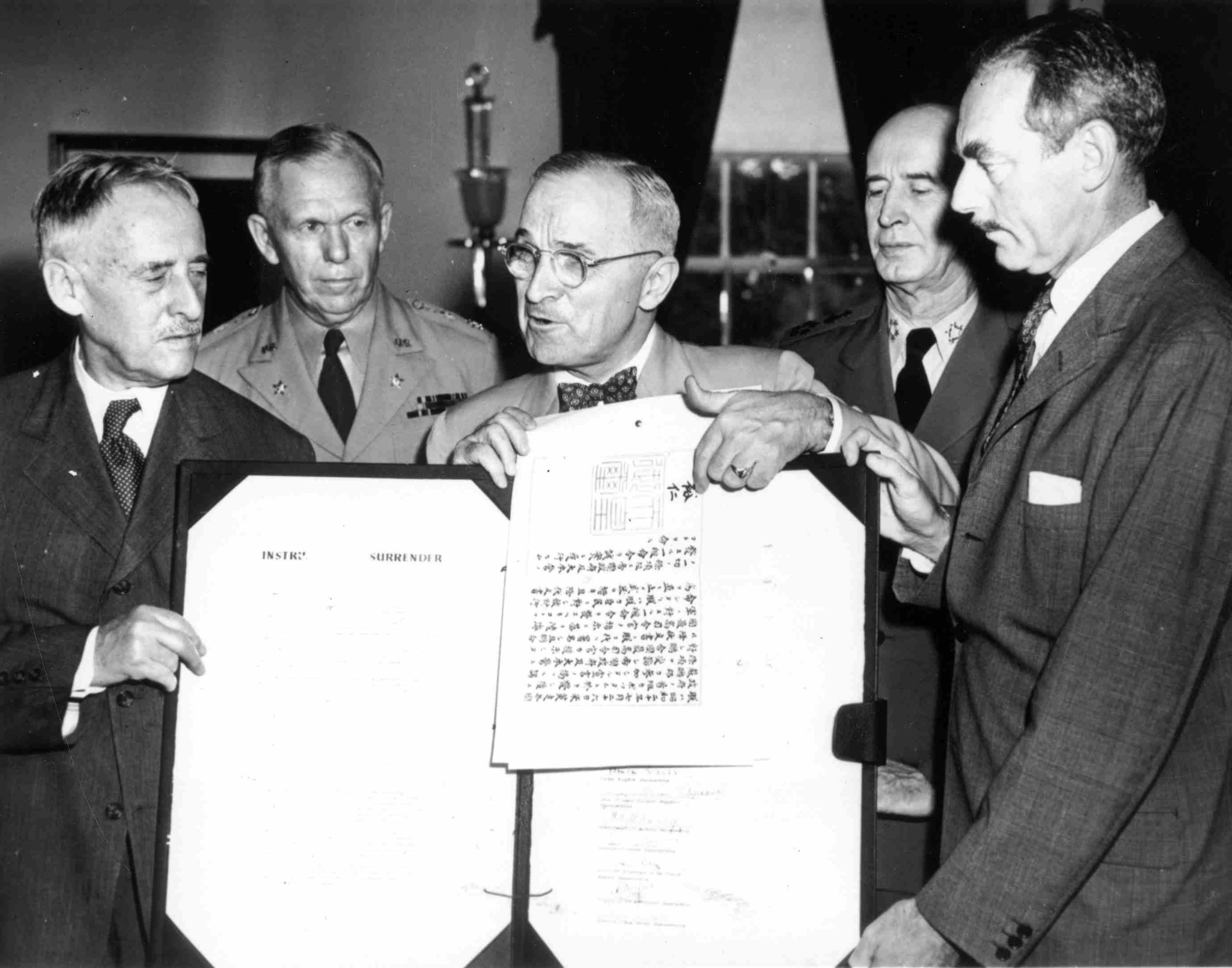 President Harry Truman with a group of men