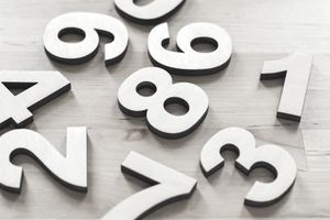 numbers on a wooden floor