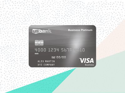 US Bank Business Platinum card image with background