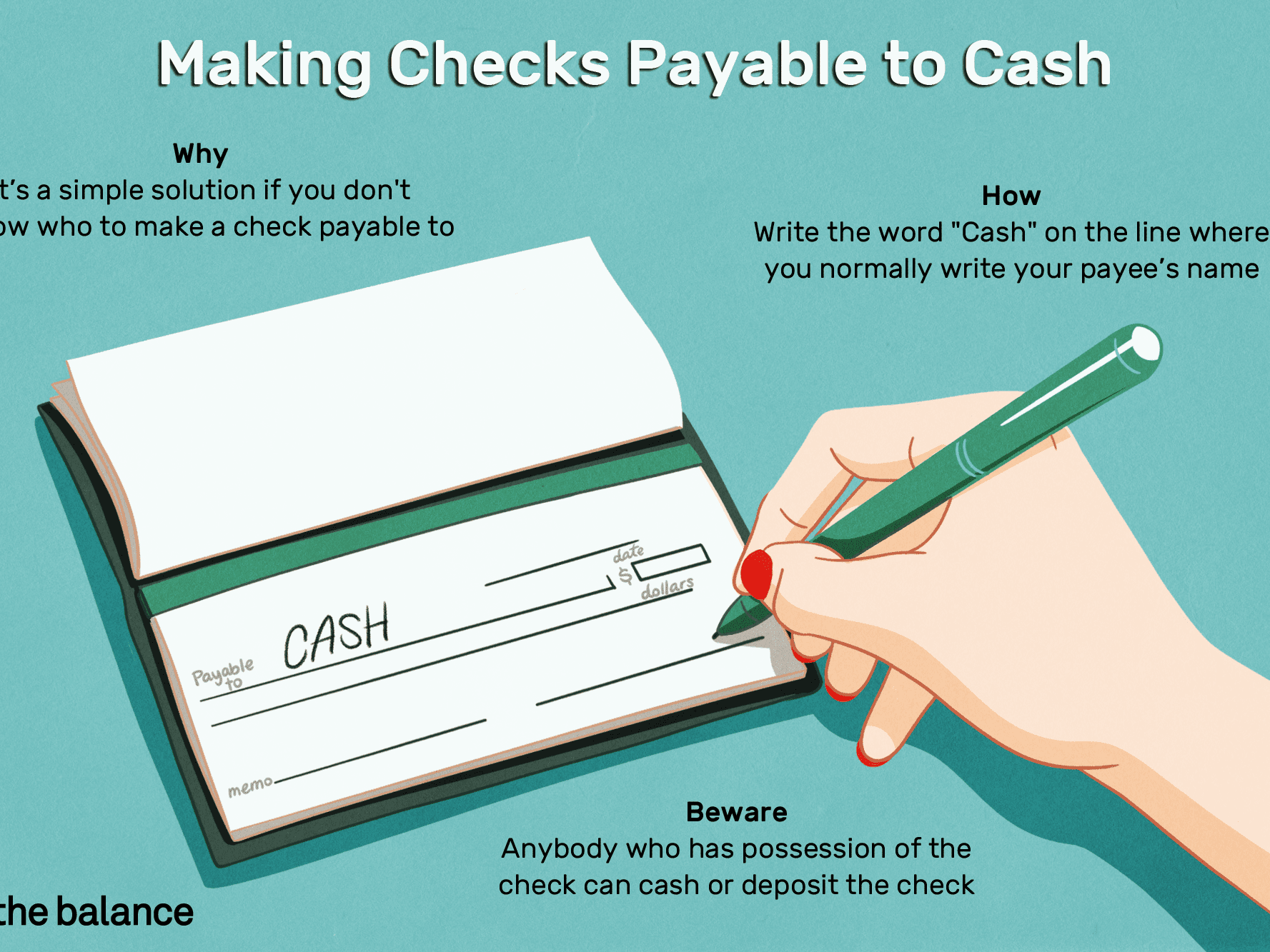 How to Write and Cash Checks Payable to Cash